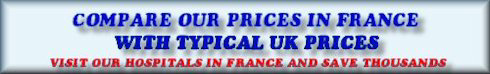 compare prices of cosmetic surgery in france